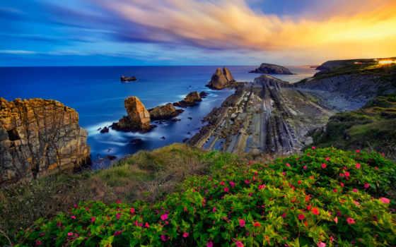 bay, biscay, испания, cantabria, desktop, views, landscape, free,