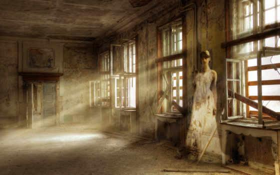 заброшенное, девушка, крови, разруха, одна, building, tub, ванная, луна,