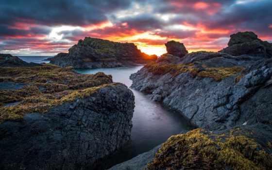 , скалы, вода, скалы, берег,