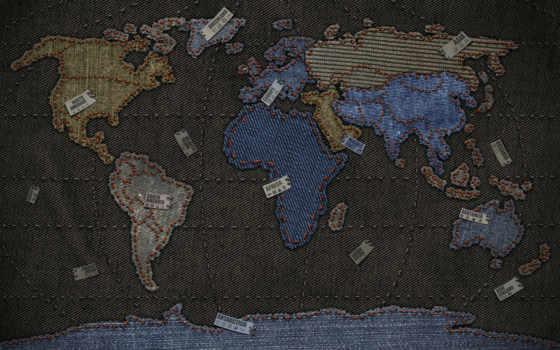 креатив, мира, map, джинсовая, красивые, телефон, креативные,