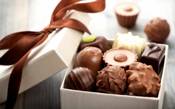 sweets, конфет, шоколадных, шоколадные, box, коробке,