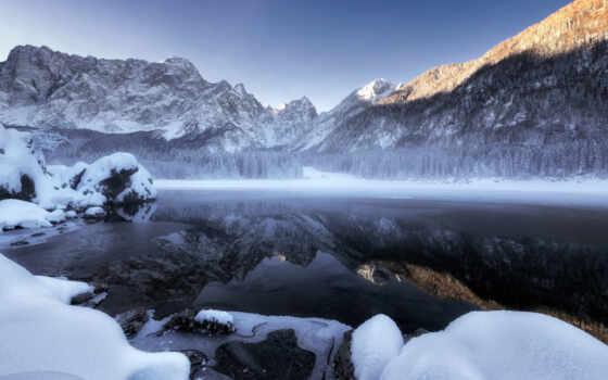 winter, landscape, снег, гора, природа, resolution, cover