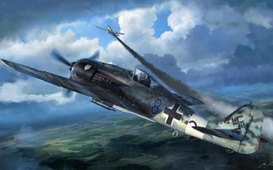 fw, wulf, истребитель, focke, обои, вульф, самолет