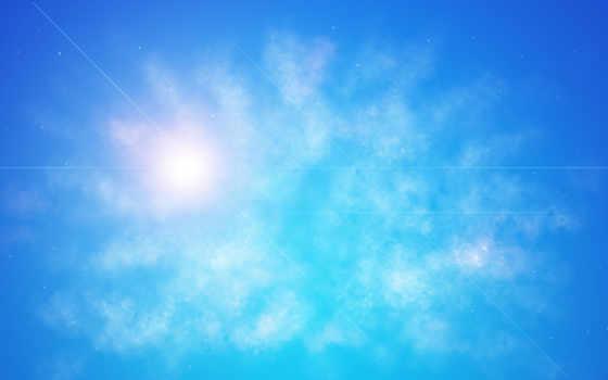 небо, солнце, линии, картинка, картинку,