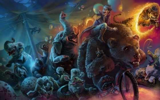 зомби, art, опастность, цирк, звери,