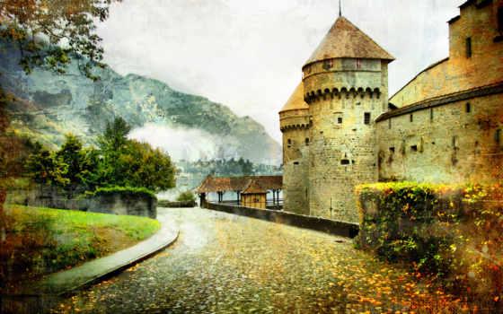 castle, сказочный, дорога