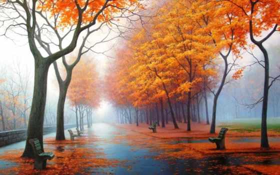 осень, красивая, очень, park, красивые, песнь, time, женщина, музыка, картинка, природа,