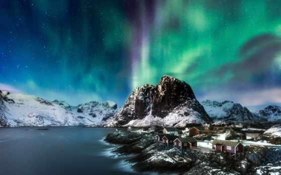 norwegian, lofoten, northern, норвегия, острова, северное, сияние, огни, islands,