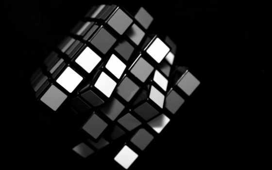 кубик, rubik, black, rubiks, white, фон