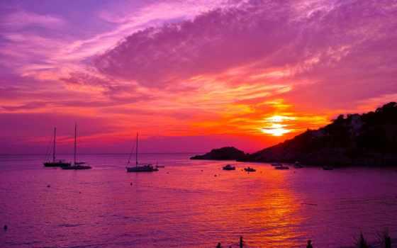 море, ibiza, landscape, закат, остров, праздник, eternal, one