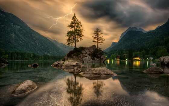 fear, pemandangan, wise, притча, озеро, landscape, alam, буря, помощь, который, samsing