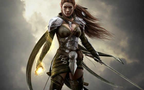 воин, девушка, online