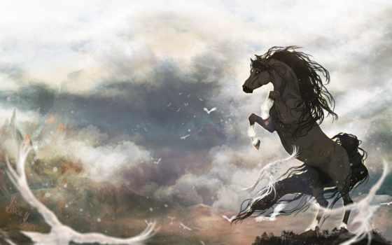 лошади, дух, zhivotnye