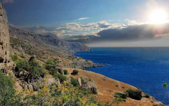 крымский, море, горы, чёрное, природа, крыму, крыма,