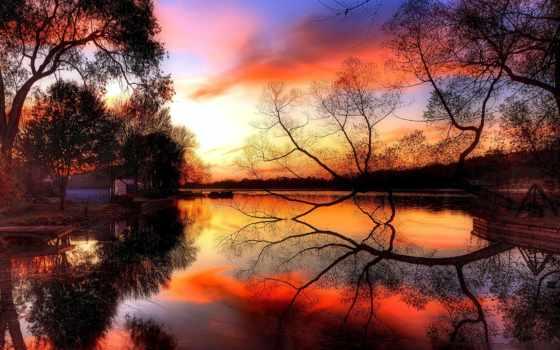 осень, facebook, закат, пасть, природа, covers, cover, хорошем, reservoir,