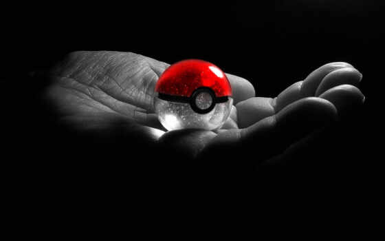 pokeball, pokemon, мяч, bola, компьютер, шпалери, рука, forwallpaper, laevsky, estilo,