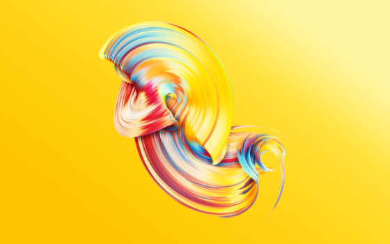 paintwave, yellow, desktop