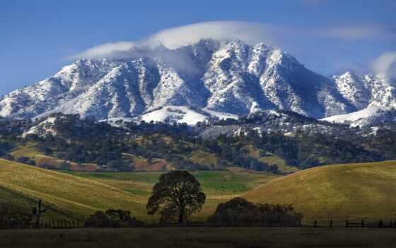 горы, природа, гора, гор, landscape, подножья, качестве, долине, водопады,