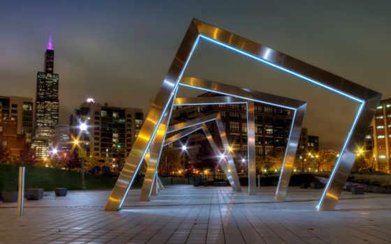architecture, стиле, hai, города, chicago, puzzle, тек, online, свет, освещение,