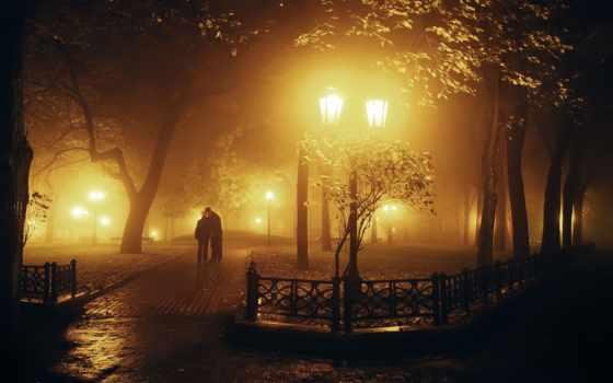 ночью, ночь, park, мужчина, поцелуй, широкоэкранные, парень, потерпи,