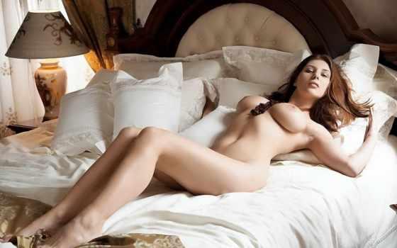 девушка, голая, кровати