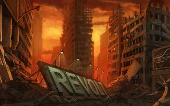 art, музыка, развалины, пост, artwork, apocalyptic, cityscapes, будущее, illustration, лифт, postapocalyptic,