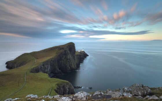 шотландия, море, маяк