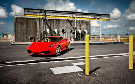 ferrari, red, photography