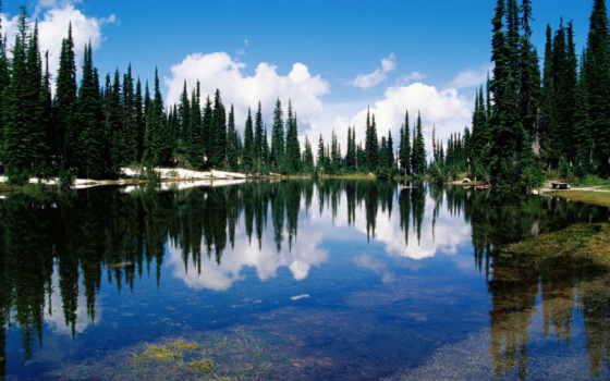канадский, британская, colombia, озеро, горы, канада, бальзама,
