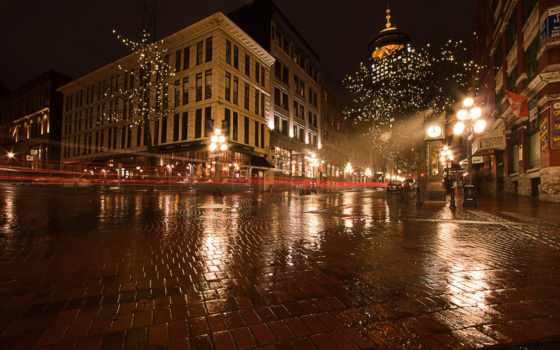vancouver, дождь, канада, город, cities, ночь, улица,