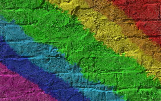 стена, радуга, краска, online, streaks, brick, collect, puzzle, картиники, текстура, бесплатные,