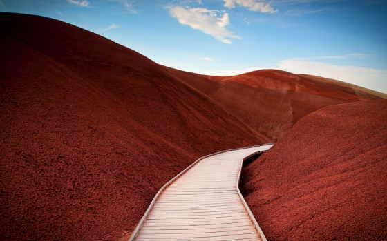 песок, браун, грунт, landscape, oregon, во, dune, гора, hill
