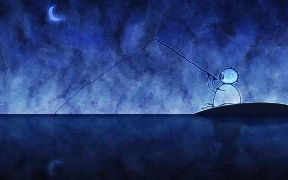 рыбалка, прикольные, луну