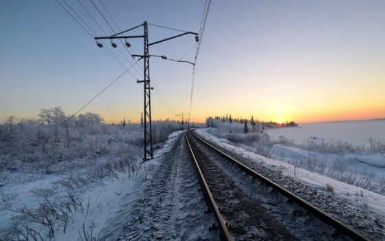 winter, снег, железная, дорога, железной, дороге, янв, пейзажи -, утро,