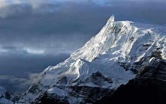 аннапурна, мира, вершин, trek, горы, nepal, контур, высокие, аннапурны,