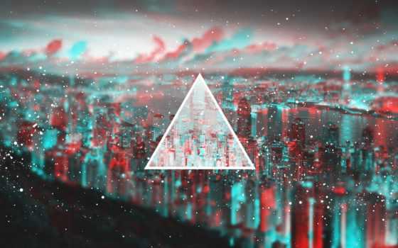 fondos, pantalla, luz, triángulo, fondo, borrosos, imágenes, borrosa, resumen,