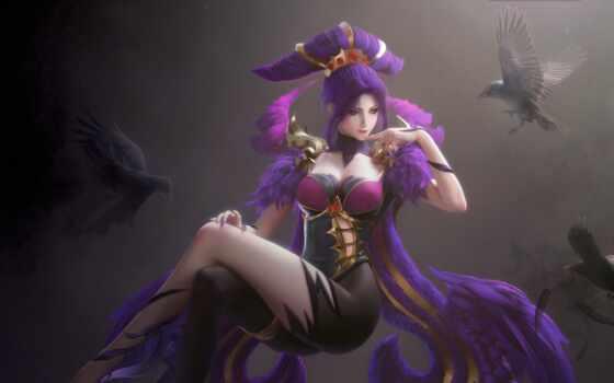 game, девушка, fantasy, характер, league, lumino, artstation, птица, модель, angel