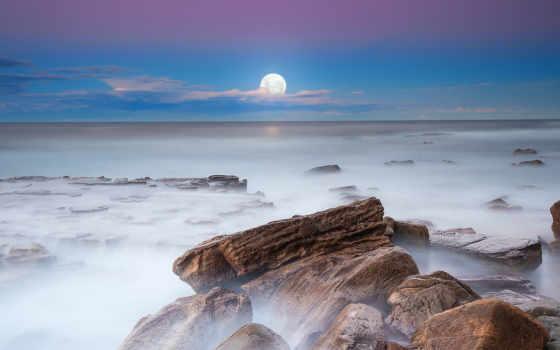 луна, вечер