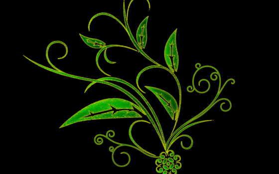 fone, черном, black, рисунок, зелёный, банка, красивые, широкоформатные, бесплатные,