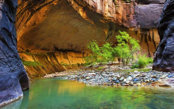güzel, duvar, landscape, nehir, dünyanın, природа, world, rocks, небо,