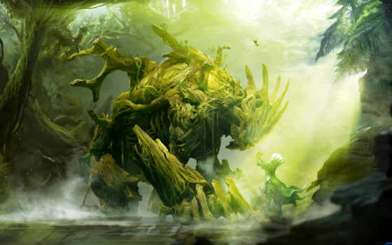 guild, wars, sylvari, monster, art, за, сильвари, природа, fantasy, игры, necromancer,