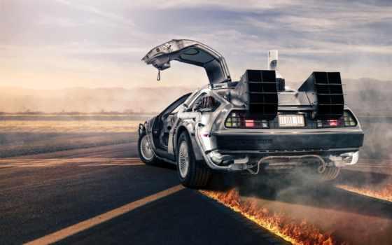 delorean, назад, будущее, dmc, делориан, спина, машины,
