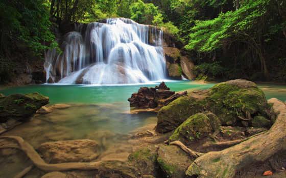 природа, камни, водопад, водопады,