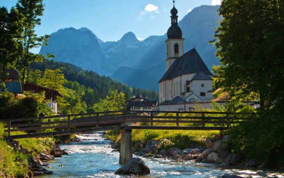 church, германия, german, anthem, landscapes, себастьян, трава, water,