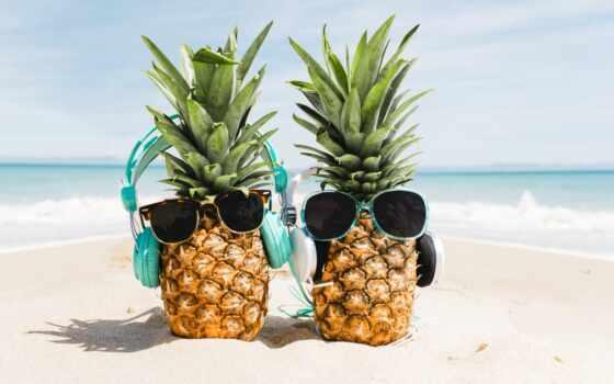 пляж, summer, отдых, пляж, pineapple, tropical, leto, sunglasses, more, сторона, amazon