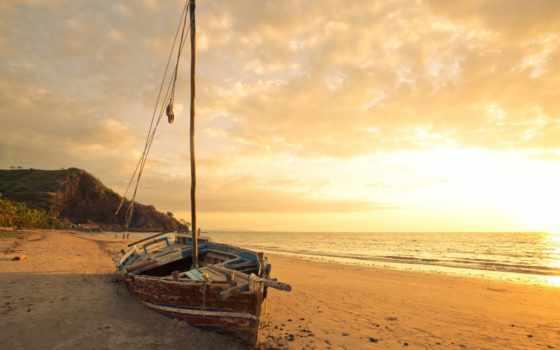 лодка, море
