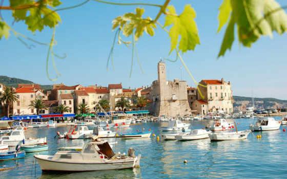 хорватия, город, море