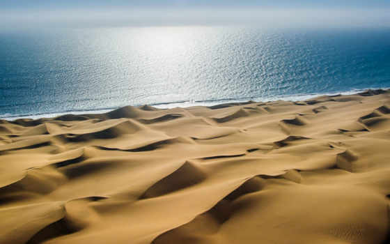 море, пустыня, песок