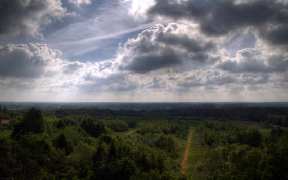 небо, красивые, картинок, дороги, height, trees, ферма, тени, many, сельское,