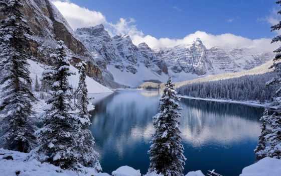 winter, компьютер, озеро